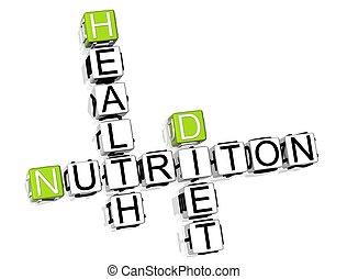 栄養, 食事, クロスワードパズル