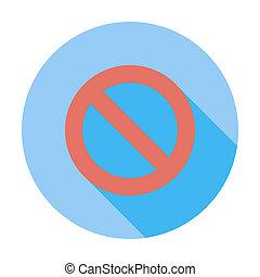 标志。, 禁止