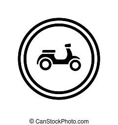 标识语, 图标, 小摩托车, 设计, 摩托车, 矢量, 摩托车, 符号, -, 样板, 自行车