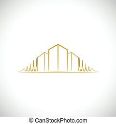 标识语, 建筑师, 黄色