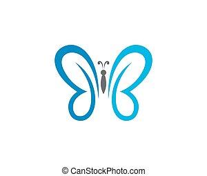 标识语, 蝴蝶, 样板