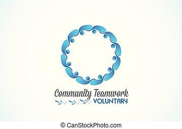 标识语, 配合, 社区, 商务人士