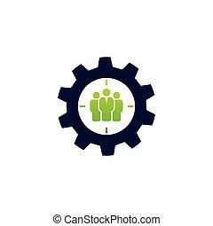 标识语, 齿轮, 队, 概念, 工作