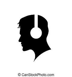 标识语, headphones, 人