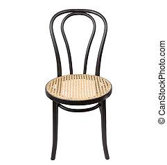 树木, 黑色, 椅子, isolated., 白色, 背景。, 椅子, 古董, 木制