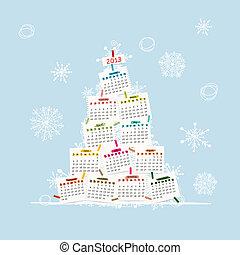 树, 你, 日历, 2013, 设计