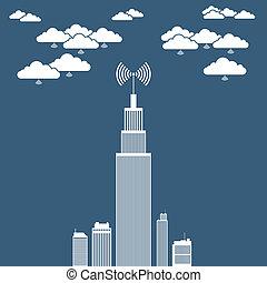 株式会社, ネットワーク, 雲