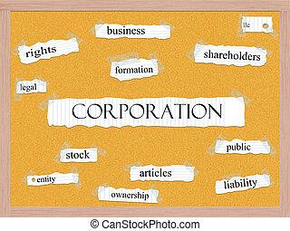株式会社, 概念, corkboard, 単語