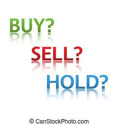 株式 市場, オプション, 3, ビジネス, 変形, 買い物, 売る, 把握, 販売, 取引しなさい, アイコン, 隔離された, 白, 背景