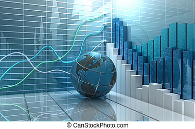 株式 市場, 抽象的, 背景