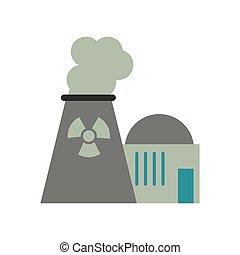 核工場, エネルギー, 力, タワー