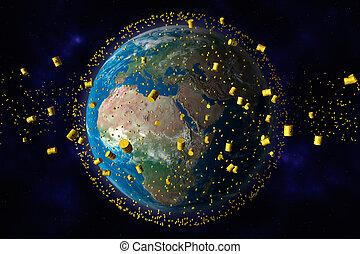 核廃棄物, 軌道, 地球