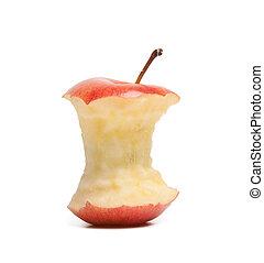 核心, 背景, 隔離された, アップル, 赤い白