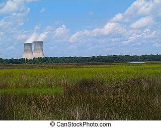 核電站, 在旁邊, a, flori