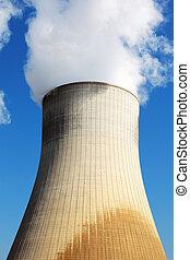 核, 冷却, 駅, タワー, 力