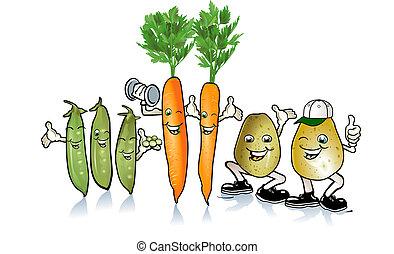 根, 豌豆, 愉快