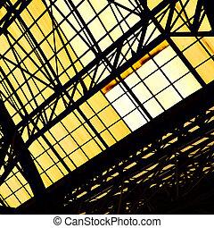 格子, フレーム, 窓, 天窓