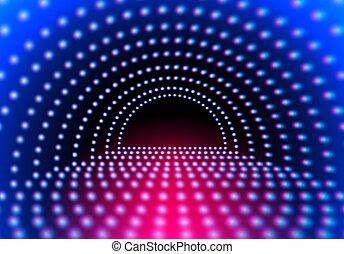 格子, ライト, 抽象的, ネオン, トンネル, 白熱