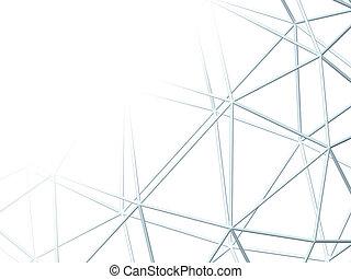 格子, 抽象的, 白い背景, 3d