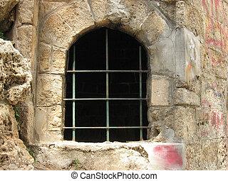 格子, 窓, 刑務所