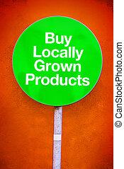 栽培された, 買い物, locally, プロダクト