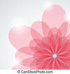 桃紅色 花