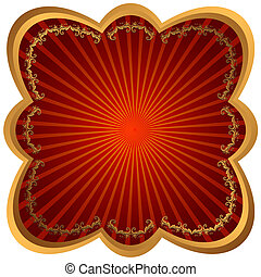 框架, 光線, 紅色, 青銅, 金屬