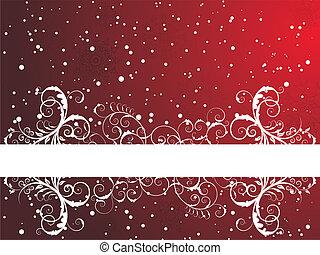 框架, 冬天, 背景