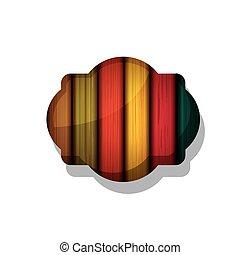 框架, 木頭, 設計, 有條紋, 多种顏色