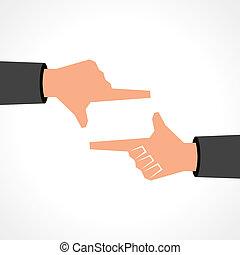 框架, 概念, 手, 图标