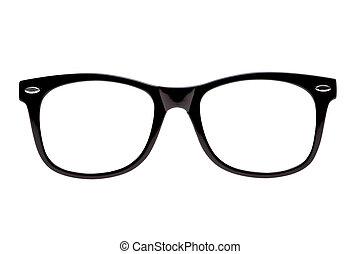 框架, 照片, 黑色, nerd, 景象