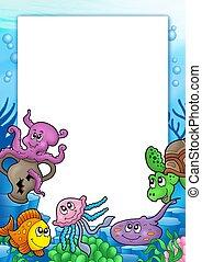 框架, 由于, 各種各樣, 海洋 動物