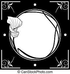 框架, 百合花
