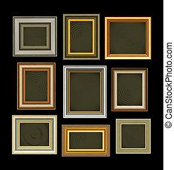 框架, 相片, 圖片, 矢量, 葡萄酒