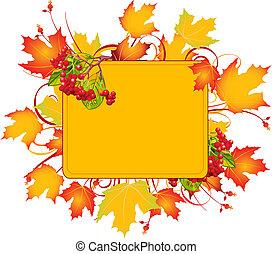 框架, 秋天
