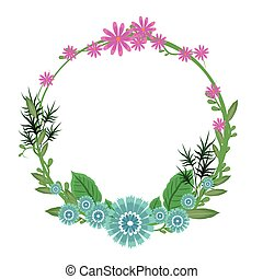 框架, 花冠, 花, 輪