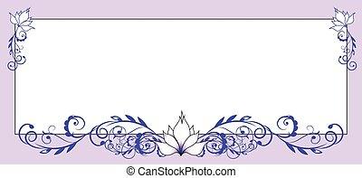 框架, 花, 百合花