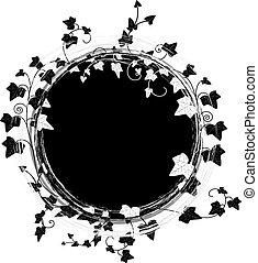 框架, 輪, 常春藤