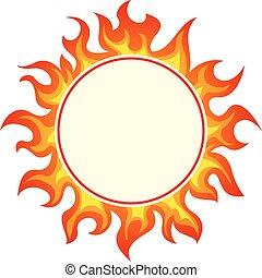 框架, 輪, 燃燒
