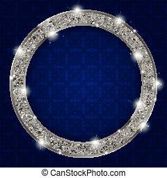 框架, 輪, 黑暗, 光, 背景, 銀