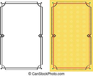 框架, 邊框, 設計