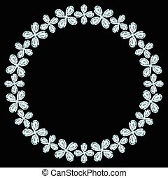 框架, 鑽石, 黑色, 輪, 背景