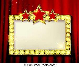 框架, 電影院, stars.