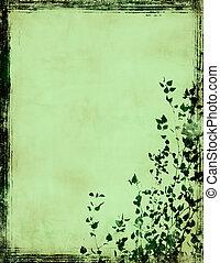 框架, grunge, 叶子
