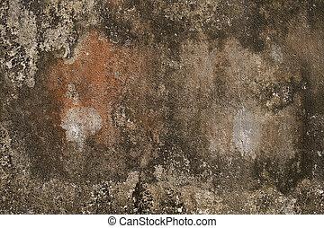 框架, grunge, 墙壁, 锈