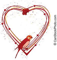 框架, valentinel, 鳥