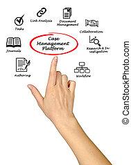 案件, 平台, 管理, 企業