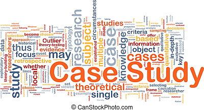 案件, 研究, 概念, 背景