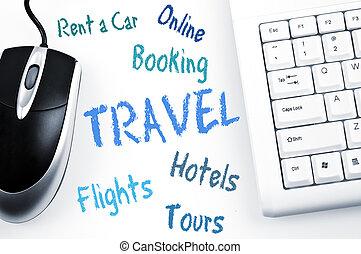 案, 旅行, コンピュータ, 単語, キーボード