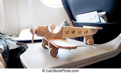 桌子, 飛機, 木制, 噴气式飛机, 圖, 玩具, 現代, airiplane